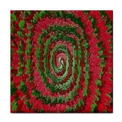 Red Green Swirl Twirl Colorful Face Towel