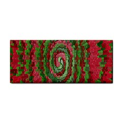 Red Green Swirl Twirl Colorful Cosmetic Storage Cases