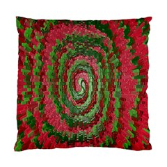 Red Green Swirl Twirl Colorful Standard Cushion Case (One Side)