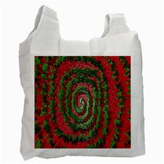 Red Green Swirl Twirl Colorful Recycle Bag (One Side)