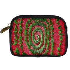 Red Green Swirl Twirl Colorful Digital Camera Cases