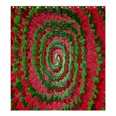 Red Green Swirl Twirl Colorful Shower Curtain 66  x 72  (Large)