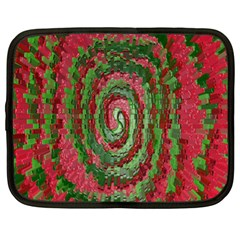 Red Green Swirl Twirl Colorful Netbook Case (XL)