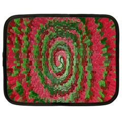 Red Green Swirl Twirl Colorful Netbook Case (XXL)