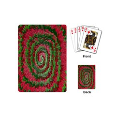 Red Green Swirl Twirl Colorful Playing Cards (Mini)