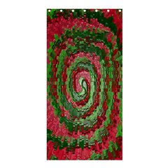 Red Green Swirl Twirl Colorful Shower Curtain 36  x 72  (Stall)