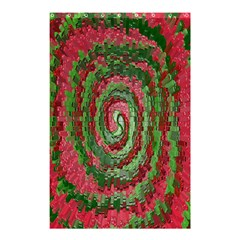 Red Green Swirl Twirl Colorful Shower Curtain 48  x 72  (Small)