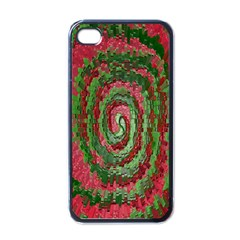 Red Green Swirl Twirl Colorful Apple Iphone 4 Case (black)