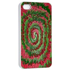 Red Green Swirl Twirl Colorful Apple Iphone 4/4s Seamless Case (white)