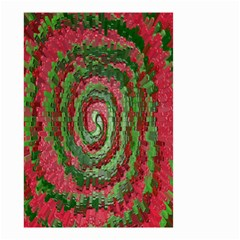 Red Green Swirl Twirl Colorful Small Garden Flag (two Sides)