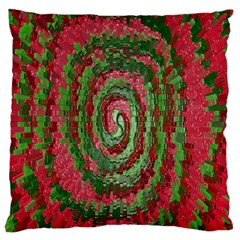 Red Green Swirl Twirl Colorful Large Cushion Case (two Sides)
