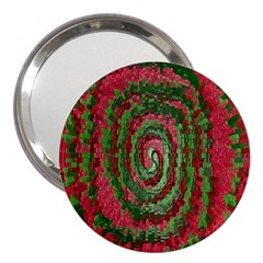 Red Green Swirl Twirl Colorful 3  Handbag Mirrors