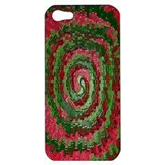 Red Green Swirl Twirl Colorful Apple Iphone 5 Hardshell Case