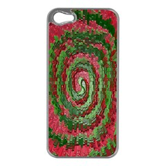 Red Green Swirl Twirl Colorful Apple Iphone 5 Case (silver)