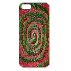 Red Green Swirl Twirl Colorful Apple Seamless Iphone 5 Case (clear)