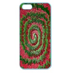 Red Green Swirl Twirl Colorful Apple Seamless Iphone 5 Case (color)