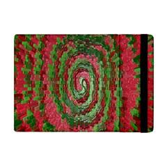 Red Green Swirl Twirl Colorful Apple Ipad Mini Flip Case