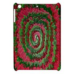 Red Green Swirl Twirl Colorful Apple Ipad Mini Hardshell Case