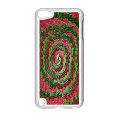 Red Green Swirl Twirl Colorful Apple Ipod Touch 5 Case (white)