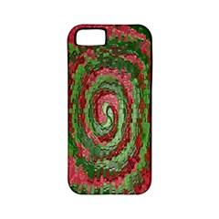 Red Green Swirl Twirl Colorful Apple iPhone 5 Classic Hardshell Case (PC+Silicone)