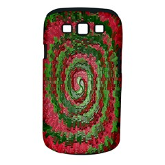 Red Green Swirl Twirl Colorful Samsung Galaxy S III Classic Hardshell Case (PC+Silicone)