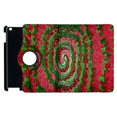 Red Green Swirl Twirl Colorful Apple iPad 2 Flip 360 Case