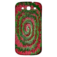 Red Green Swirl Twirl Colorful Samsung Galaxy S3 S III Classic Hardshell Back Case