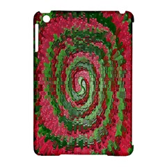 Red Green Swirl Twirl Colorful Apple Ipad Mini Hardshell Case (compatible With Smart Cover)