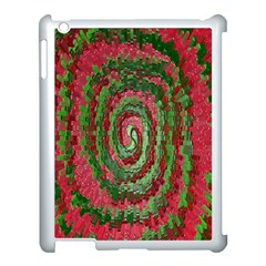 Red Green Swirl Twirl Colorful Apple Ipad 3/4 Case (white)