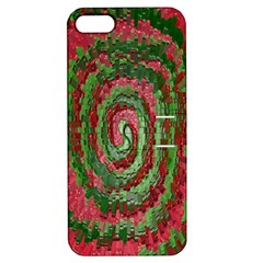 Red Green Swirl Twirl Colorful Apple iPhone 5 Hardshell Case with Stand