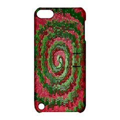 Red Green Swirl Twirl Colorful Apple Ipod Touch 5 Hardshell Case With Stand