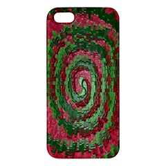 Red Green Swirl Twirl Colorful Apple Iphone 5 Premium Hardshell Case