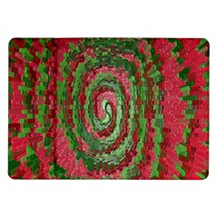 Red Green Swirl Twirl Colorful Samsung Galaxy Tab 10 1  P7500 Flip Case