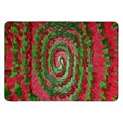Red Green Swirl Twirl Colorful Samsung Galaxy Tab 8.9  P7300 Flip Case