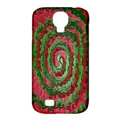 Red Green Swirl Twirl Colorful Samsung Galaxy S4 Classic Hardshell Case (pc+silicone)