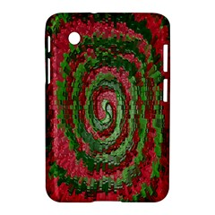 Red Green Swirl Twirl Colorful Samsung Galaxy Tab 2 (7 ) P3100 Hardshell Case