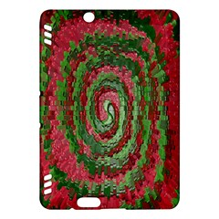 Red Green Swirl Twirl Colorful Kindle Fire Hdx Hardshell Case