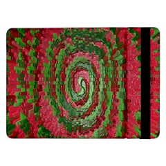 Red Green Swirl Twirl Colorful Samsung Galaxy Tab Pro 12 2  Flip Case