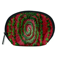 Red Green Swirl Twirl Colorful Accessory Pouches (Medium)
