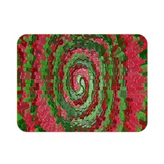 Red Green Swirl Twirl Colorful Double Sided Flano Blanket (mini)