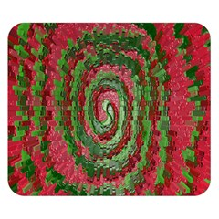 Red Green Swirl Twirl Colorful Double Sided Flano Blanket (Small)