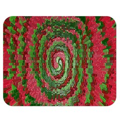 Red Green Swirl Twirl Colorful Double Sided Flano Blanket (medium)