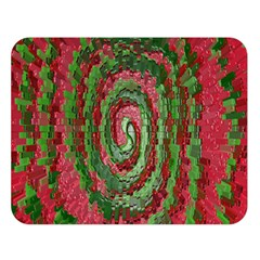 Red Green Swirl Twirl Colorful Double Sided Flano Blanket (large)