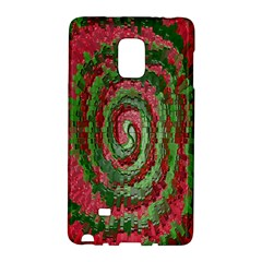 Red Green Swirl Twirl Colorful Galaxy Note Edge