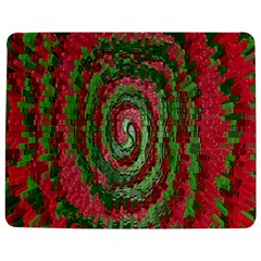 Red Green Swirl Twirl Colorful Jigsaw Puzzle Photo Stand (Rectangular)