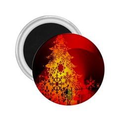 Red Silhouette Star 2 25  Magnets