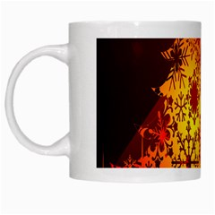 Red Silhouette Star White Mugs