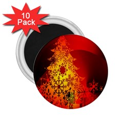 Red Silhouette Star 2.25  Magnets (10 pack)