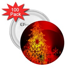 Red Silhouette Star 2 25  Buttons (100 Pack)