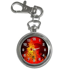 Red Silhouette Star Key Chain Watches